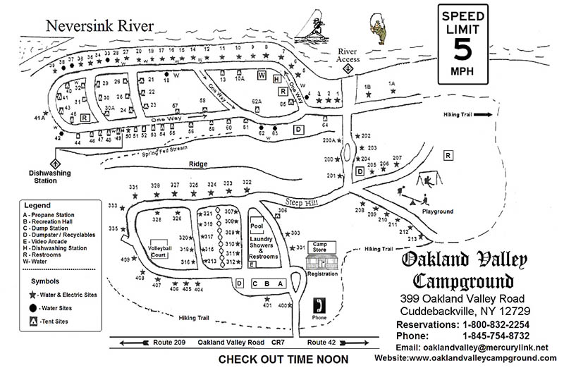 oakland valley campground map