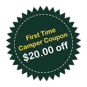 First time camper at Oakland Valley Campground coupon