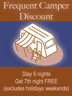 stay 6 nights - get 7th night free at oakland valley - excludes holiday weekends