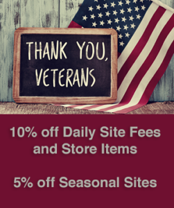 veterans discount at oakland valley campground in ny